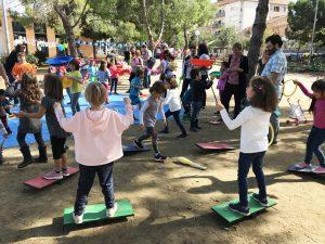celebrar festa d'aniversari al parc Plaça del treball